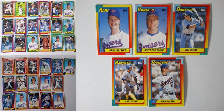 1990 Topps Texas Rangers Team Set of 39 Baseball Cards With Traded #topps #TexasRangers