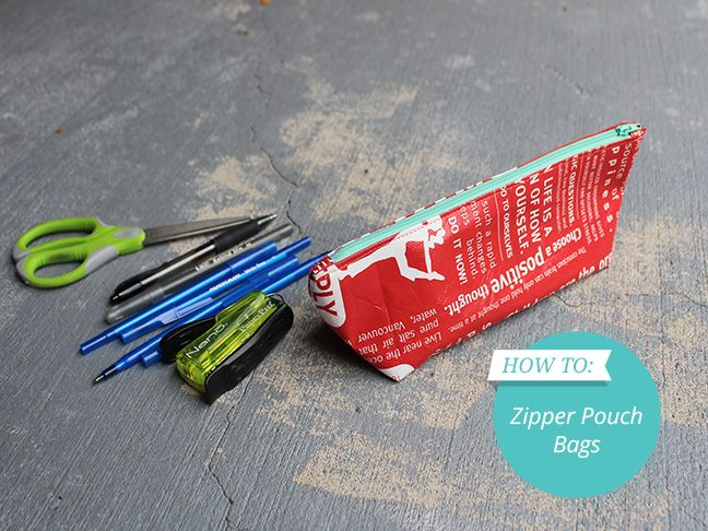 DIY: Turn Reusable Shopping Bags into Zipper Pouch Bags - Momtastic