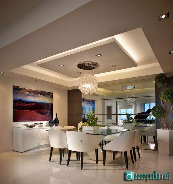 Latest False Ceiling Design Ideas For Modern Interior Dining Room