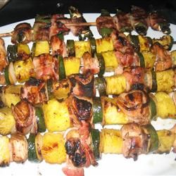 Chicken and Bacon Shish Kabobs | Recipe
