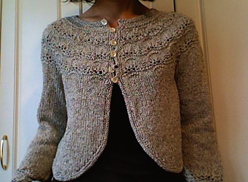 """Bianca"" sweater in silky tweed"