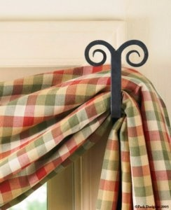 Finest Forged Ram Swag Holder Parkdesigns With Curtain Holders