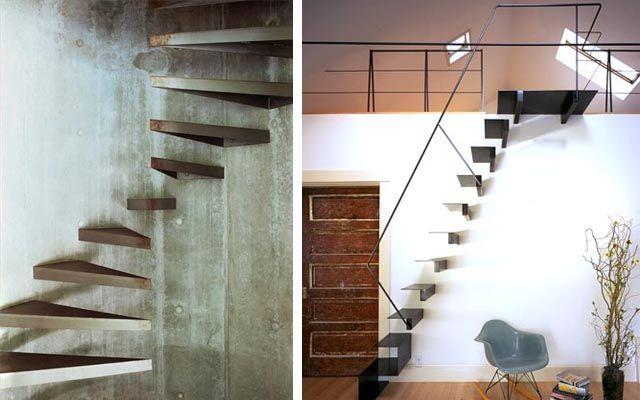 decofilia blog decoracin de escaleras voladas barandas pinterest staircases and interiors - Escaleras Voladas