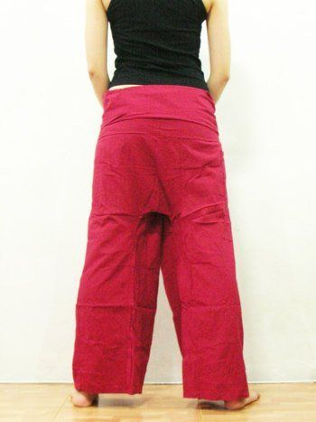 Red Fisherman Pants Yoga Clothes Thai Summer Beach Pants Yoga Wear Cotton Thai Comfortable Pants Clothing Thai Yoga by Cotton Design. $24.99. Thai Fisherman pants for men and women!. Brand new top quality authentic. Perfect for Yoga, Martial Arts, Maternity, Dance, the beach and more! Thai. These high quality fisherman pants are hand made in Thailand of strong and durable silky soft 100% Rayon. color- many other colors and styles available!. These cool new Fisherman Pants measur...