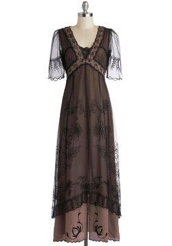 Oh wow...way to feel like you're visiting Downton Abbey for an evening! Walking on Era Dress, #ModCloth