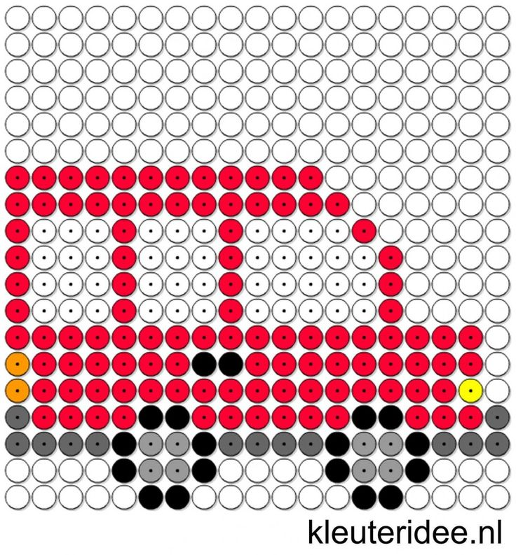 Kralenplank bus, kleuteridee.nl , thema verkeer  , free printable  Beads patterns preschool