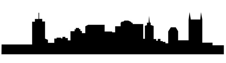 Simple Nashville skyline silhouette MUST-back of cooler? plus monogram/name/quote?