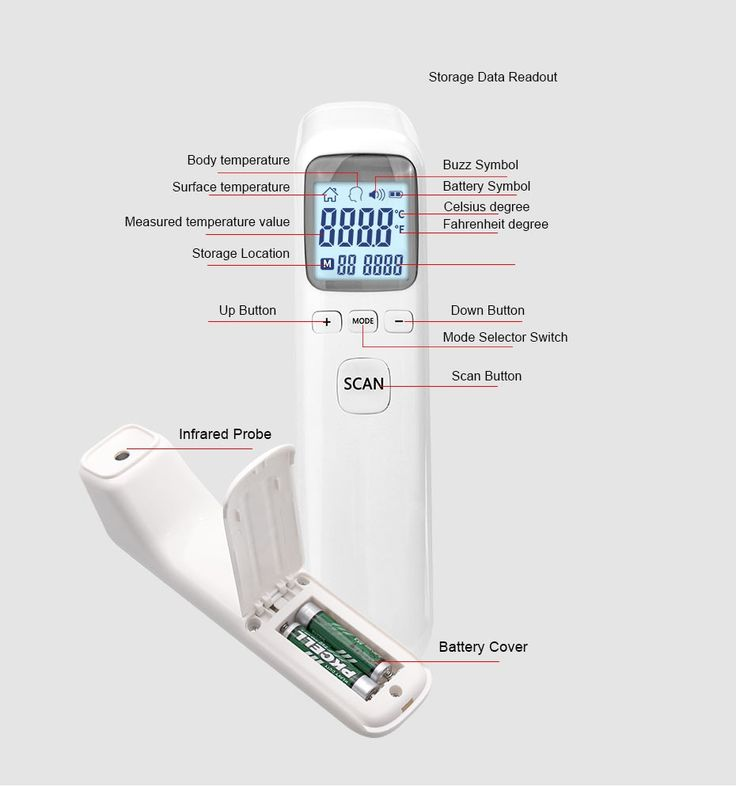 Medical infrared thermometer forehead baby portable non