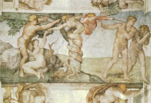 Sistine Chapel Ceiling: The Temptation and Expulsion