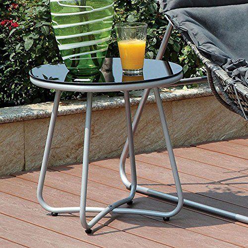 Lili Contemporary Side Table, Silver