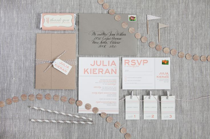 Julia & Kieran - Paper & Poste Custom Invitation & Additional Pieces