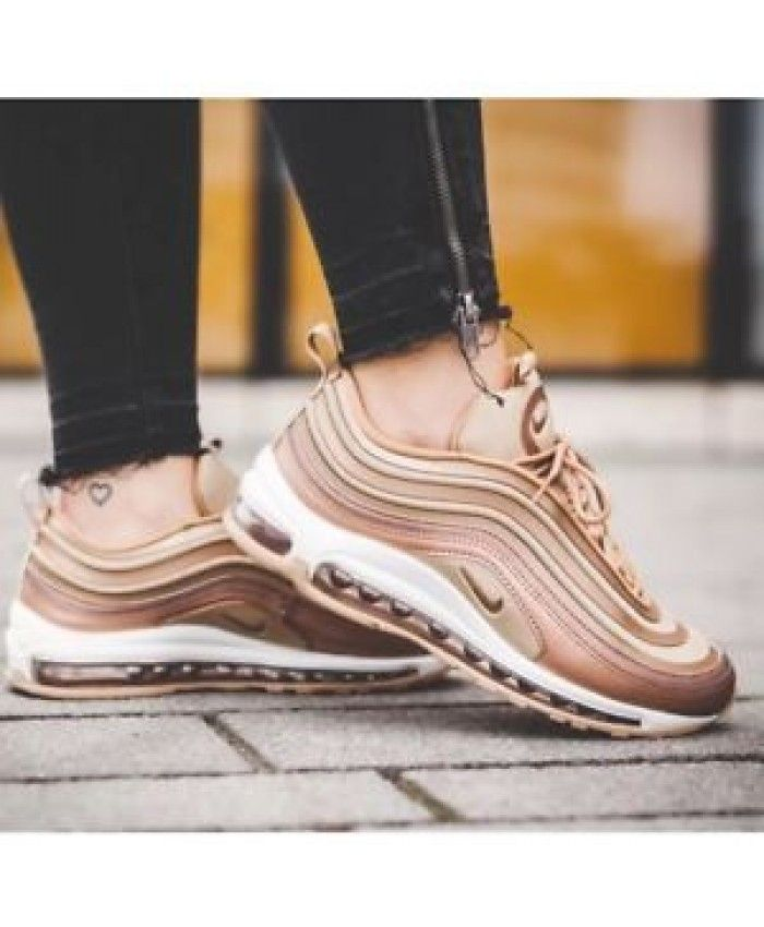 Nike Air Max 97 Rose Gold Hot Sale Shoes Sneakers Heels In 2019