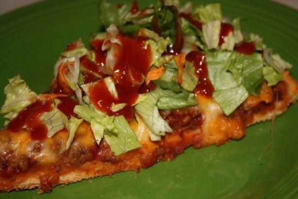 Pizza Hut Copy Cat Taco Pizza Recipe