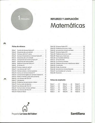 REFUERZO MATEMATICAS 1º PRIMARIA - Teresa Llorca - Álbumes web de Picasa