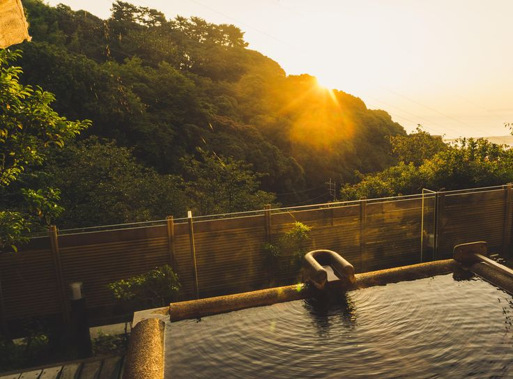 Sunrise at a private onsen in Atami