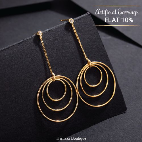 Fancy Party Wear Ear Rings Made Of High Quality Materials And Durable from Trishaaz Boutique.  Visit ShopIN deal to get offer at http://bit.ly/2DxooF4  #artificial #jewellery #custommade #customjewelry #fashionjewelry