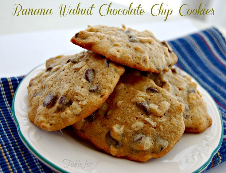 Table for 7: Banana Walnut Chocolate Chip Cookies