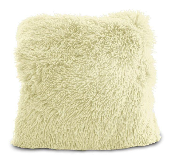 Poszewka na poduszkę włochata w kolorze ecru