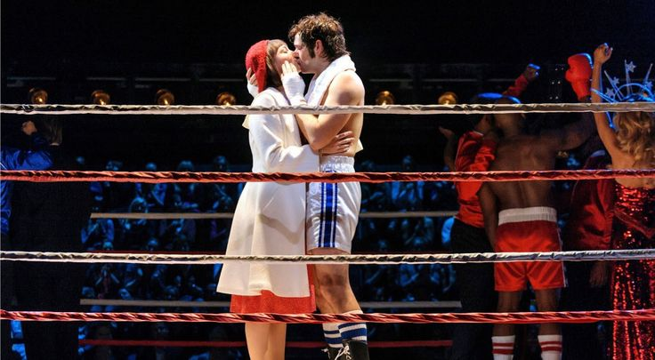 Andy Karl as Rocky and Margo Seibert as Adrian in Rocky Broadway