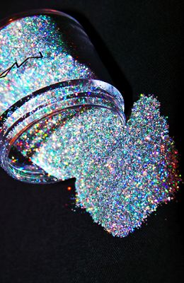 Glitter eyeshadow. A little to much glitter, don't you think?