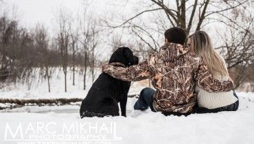 Calum & Vanessa Love Story Marc Mikhail Photography - Marc Mikhail Photography #takenbymarc #photography #love #engagement #winter #snow #dog #woods #rustic #engagementphotos #love #ring