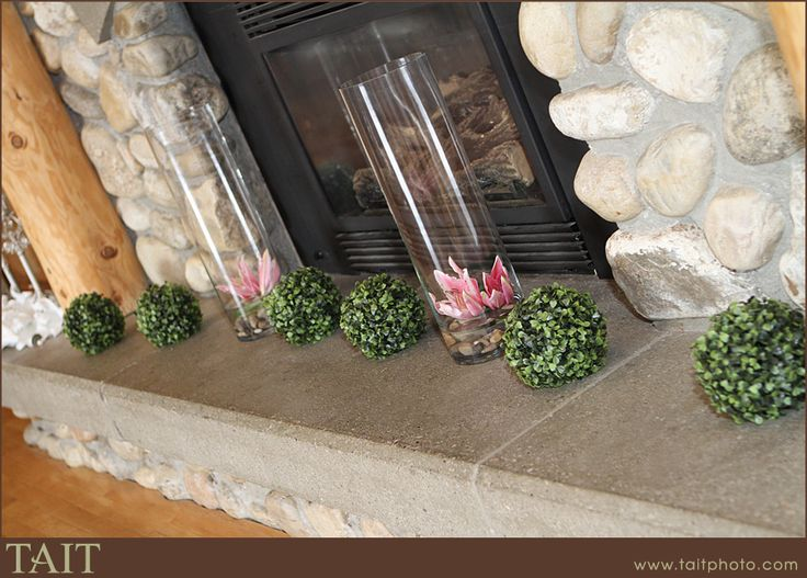 Ceremony in front of the fireplace