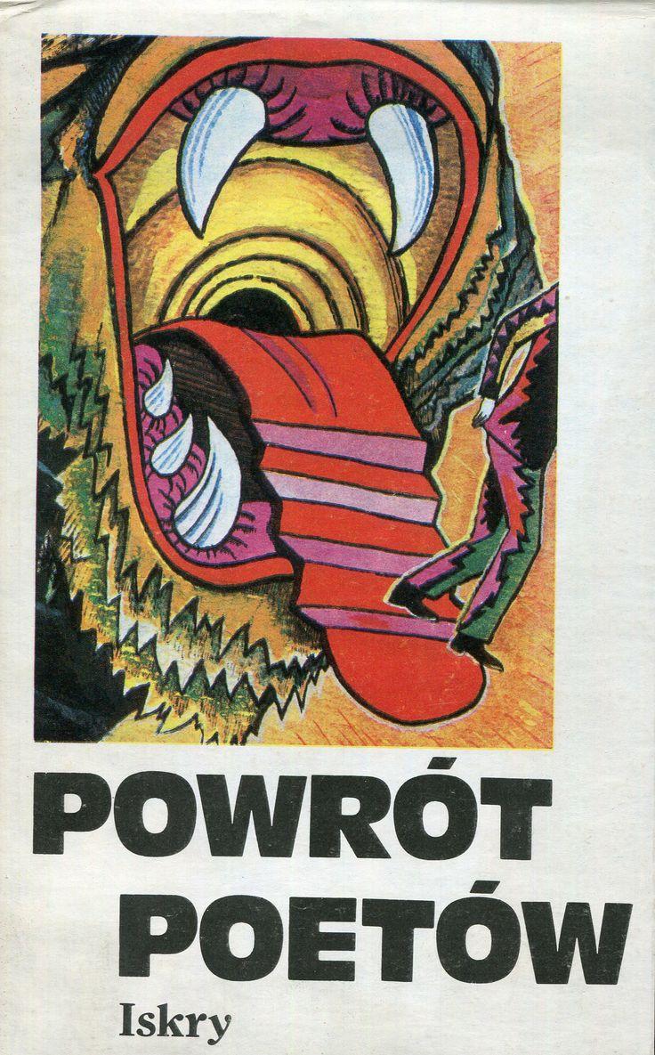 """""""Powrót poetów"""" Cover by Jerzy Rozwadowski  Published by Wydawnictwo Iskry 1990"""