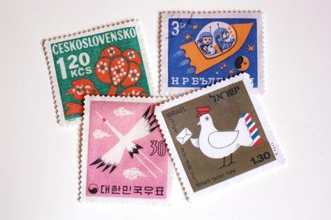 diy project: jessica's postage stamp coasters