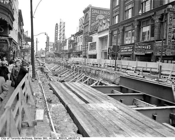 Subway construction begins 1949 in Toronto