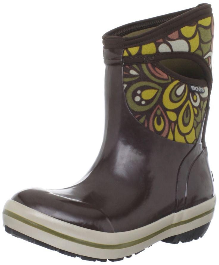 Bogs Women's Plimsoll Mid Vintage Waterproof Boot,Chocolate Multi,7 M US.