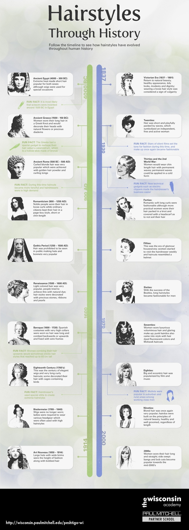 Hairstyles Through History Infographic The Wisconsin