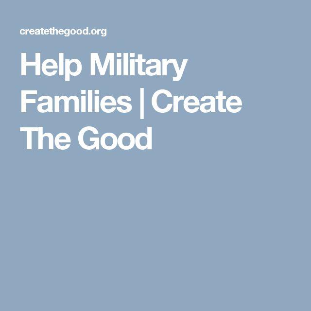 Help Military Families | Create The Good