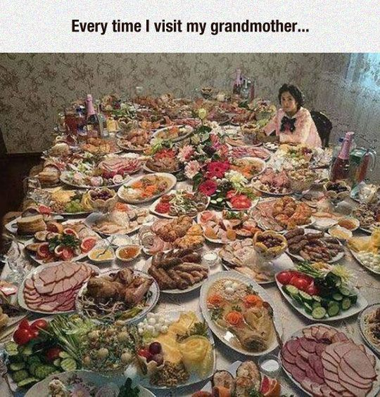 There's Also Dessert In The Fridge, Dear ---this makes me miss my Grandma Smith, that was EVERY Sunday at her house lol