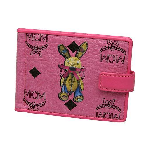 Genuine MCM Visetos Money Clip Rabbit Wallet Purse