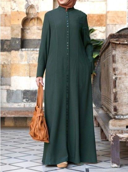 Buton Cluster Shirtdress Abaya