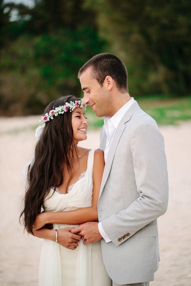 couple mariee hawai