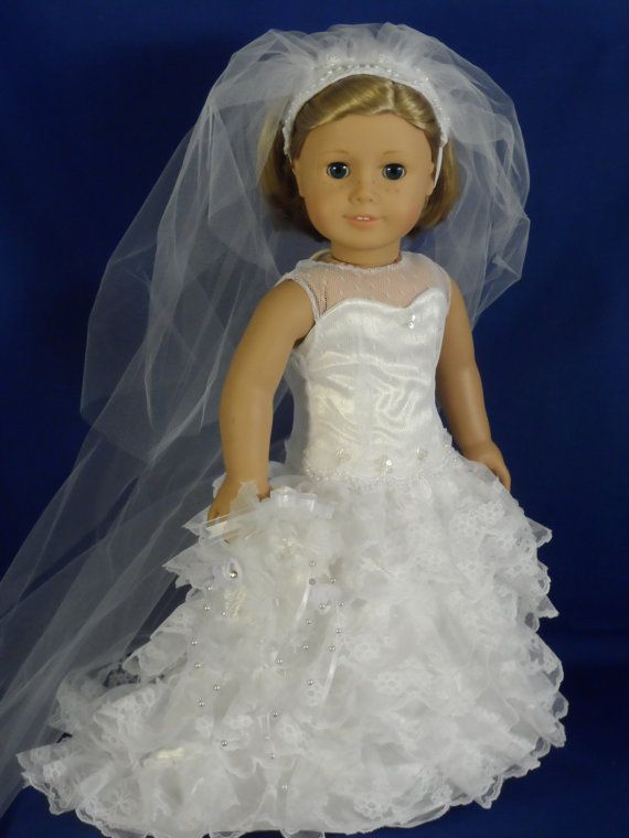 Ooak Wedding Dress Bride For Your American Girl Or 18