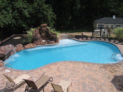 1000 ideas about gunite pool on pinterest pool builders for Custom inground swimming pools
