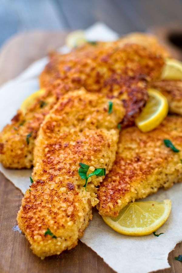 This kid- friendly, Easy Parmesan- Crusted Chicken is crunchy on the outside and…