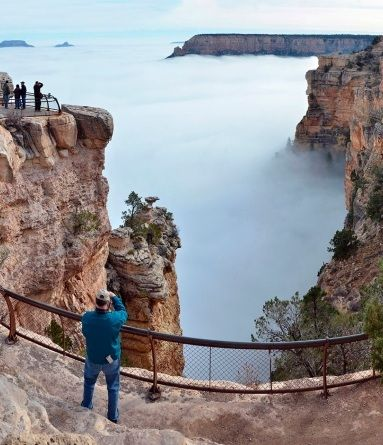 Best Haboob Images On Pinterest Dust Storm Mother Nature And - Rare weather event fills grand canyon with fog and gives us this breathtaking sight