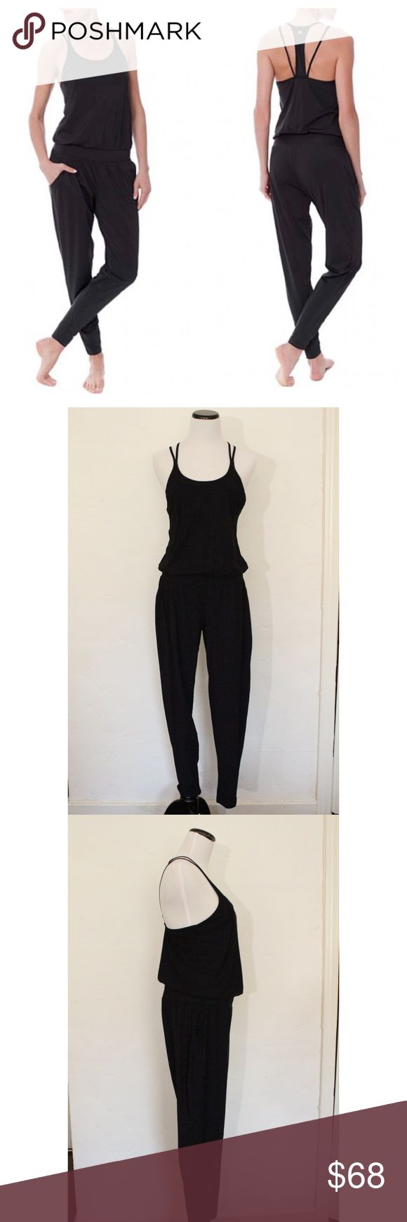 Sweaty Betty Supinity Jumpsuit Size M Sweaty Betty Sunipity Black Yoga Jumpsuit. Perfect for running errands and getting in a quick yoga session. Excellent pre-owned condition. No pilling, no holes, and no stains. Size Medium. No trades. Please feel free to ask any questions. Sweaty Betty Pants Jumpsuits & Rompers