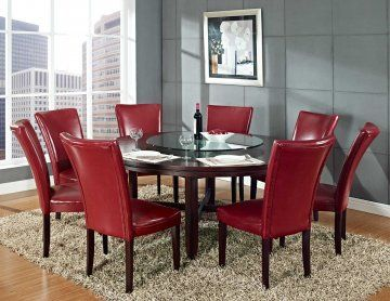 9 PC Hartford 72 Inch Round Dining Set With Lazy Susan By Steve Silver