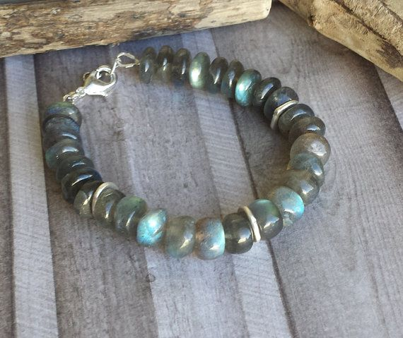 Labradorite bracelet by Cicadella on Etsy