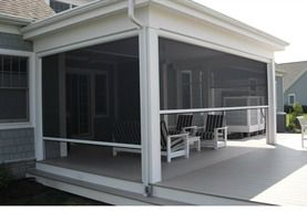 motorized roll down screens to your porch or patio.