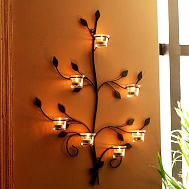 M s de 1000 ideas sobre portavelas de pared en pinterest - Portavelas de hierro ...