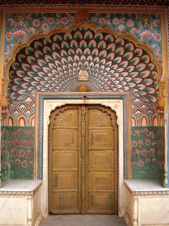 Jaipur, IndiaIndia Did, Doors Lets, Doors Doorway, Doors Windows, Peacocks Doors, India Travel, Close Doors, Colorful Doors, Colors Doors