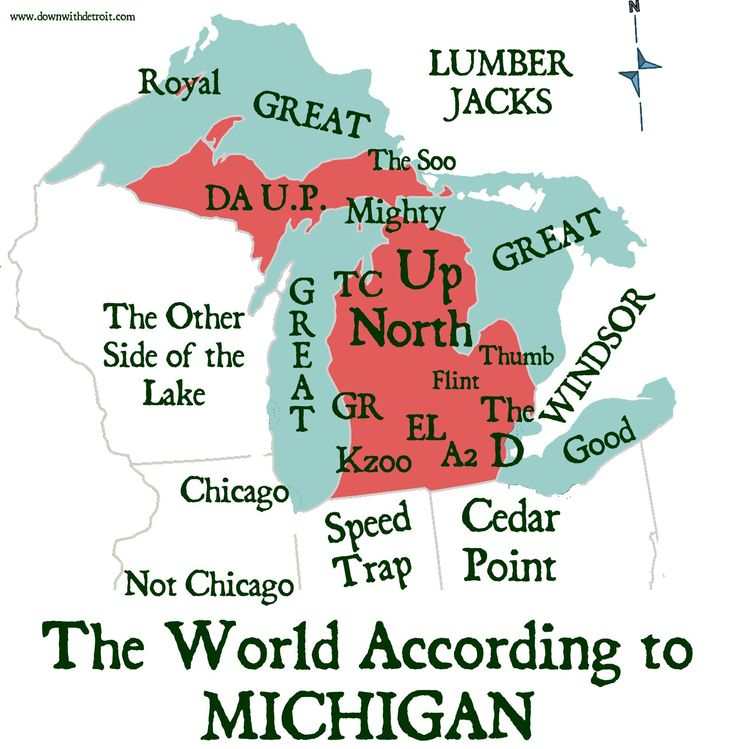 "Michigan, where I was born and raised. Me? ""Up North"""