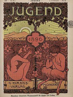 Die Jugend was de naamgever van de kunststroming Jugendstil. Een kritisch blad over kunst en maatschappelijke vraagstukken en grondlegger van de Jugendstil
