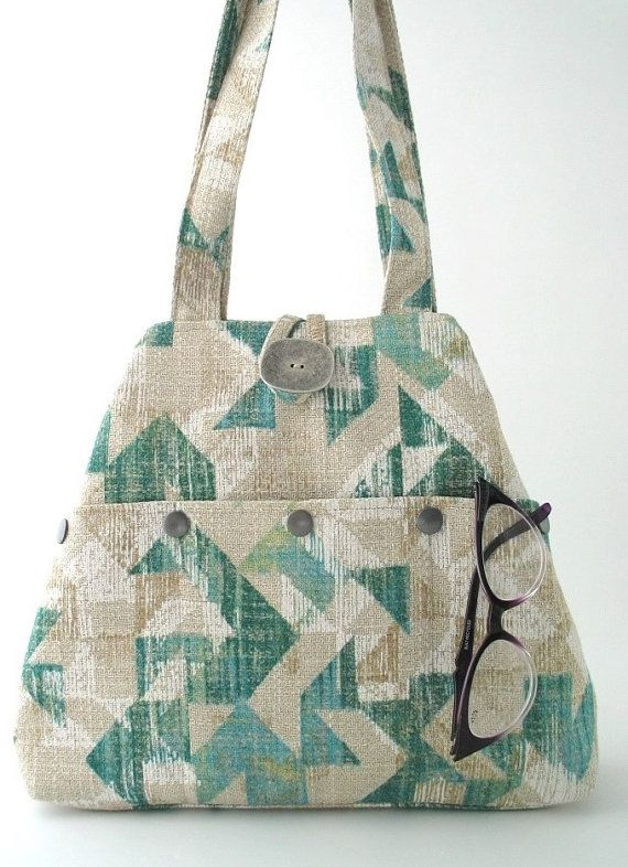 monedero grande bolso bolso bolso de tela bandolera por daphnenen