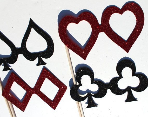 Playing Card Glasses - Features Spade, Diamond, Club, and ...